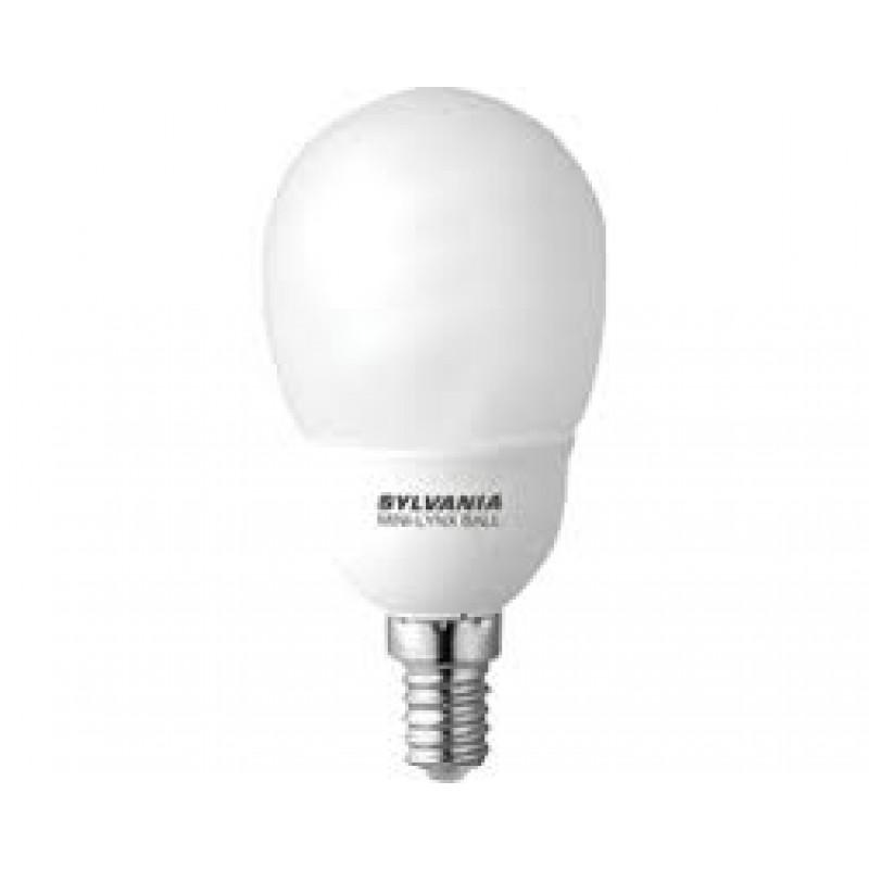 Vaak Sylvania MINI-LYNX Ball Spaarlamp 9W, E14, 450 lumen, Energielabel A AJ08